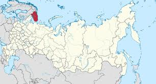 Murmansk region's location in Russia.