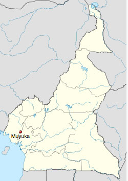 Muyuka's location in Cameroon. (Map courtesy of Wikipedia)