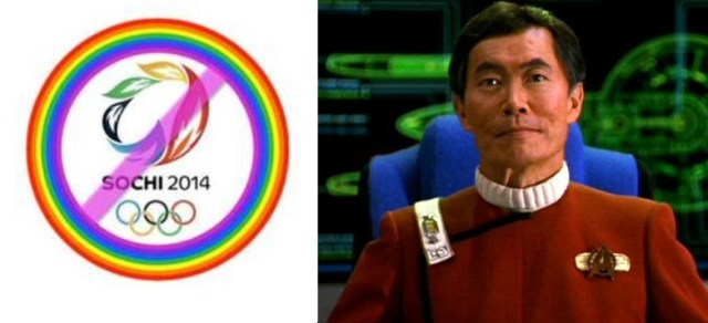 Activist actor George Takei wants the Winter Olympics to be moved.
