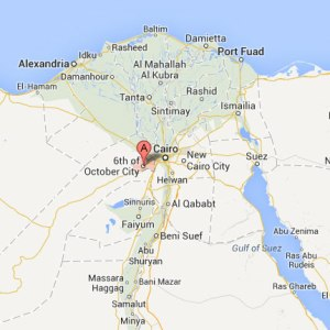 Location of 6th of October City. (Map courtesy of Google)