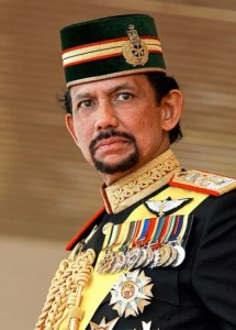 The Sultan of Brunei, Hassanal Bolkiah