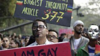 Les manifestants cherchent abrogation de l'article 377. (Photo du TheStar.com)
