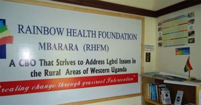 Sign for Rainbow Health Foundation Mbarara (RHFM)