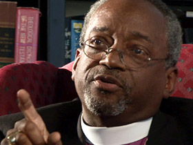"""Presiding Bishop Michael Curry: Anglican Primates' decision with cause """"pain on top of pain."""" (Photo courtesy of the Diocese of Western Massachusetts)"""