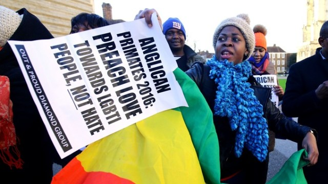 "LGBTI Africans to Anglicans: ""Preach Love."" (Photo by PA courtesy of ITV.)"