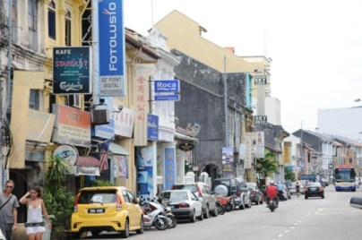 "Chulia Street in George Town, Penang, Malaysia, was the site of the trans arrests, according to the Star Online, which called the detainees ""transvestites"" and referred to them as males. It also published a photo of one of the detainees. (Photo courtesy of The Malay Mail)"