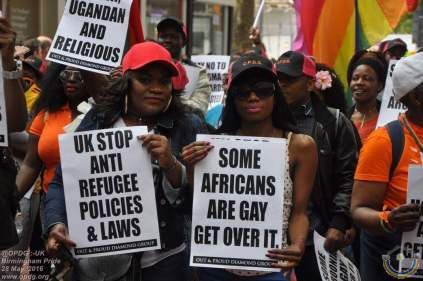 In Birmingham, Out and Proud Diamond Group disputed the claim that homosexuality is un-African. (Photo courtesy of OPDG)