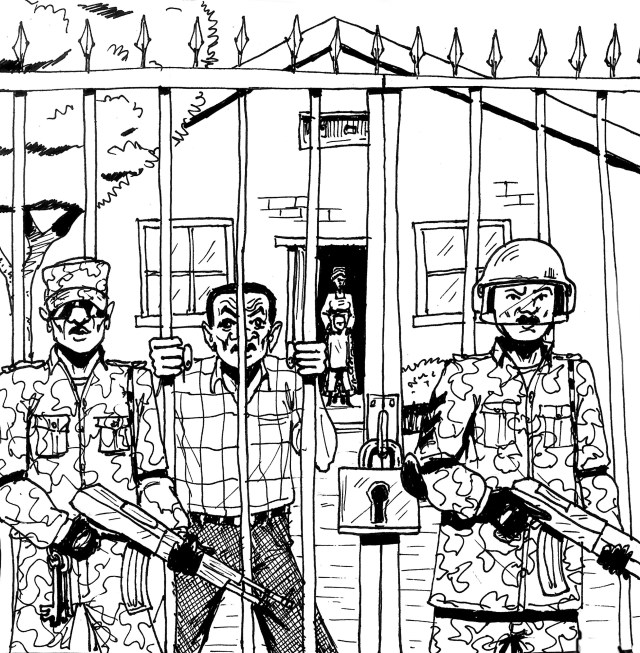 LGBTI Ugandans still fear arrest and imprisonment, despite the nullification of the Anti-Homosexuality Act of 2014. (Artwork by Vincent Kyabayinze)