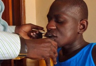 Kabuye Najib had to be fed through a straw after the attackers dislocated his jaw. (Photo courtesy of Kuchu Times)