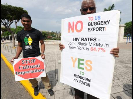 March 2015 protest by the Love March Movement (Photo by Ricardo Makyn courtesy of the Jamaica Gleaner)