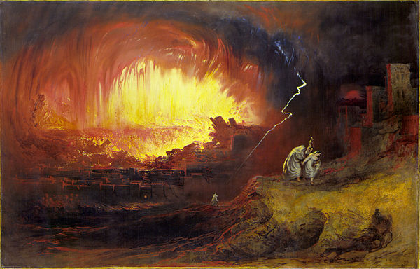 The Destruction of Sodom and Gomorrah by John Martin, 1852. (Image courtesy of Wikipedia)