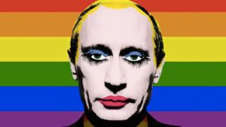 Russian President Vladimir Putin as a gay clown.