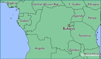 Bukavu is located on the eastern border of the Democratic Republic of the Congo (Map courtesy of World Atlas)