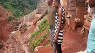 After three military police officers threatened seven LGBTI youth,s the youths jumped into this ravine connected to the Kawa River in Bukavu. (Photo courtesy of ALCIS)
