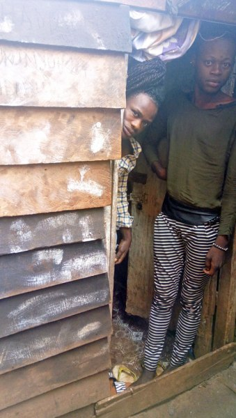A hut where seven LGBTI Congolese hide from police raids. (Photo courtesy of ALCIS, published with the permission of the people in the photo)