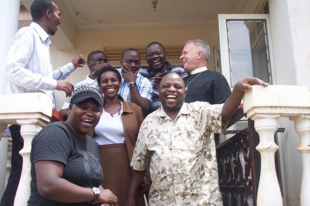 Visiting Uganda as part of the work of fighting against HIV/AIDS and for LGBTI rights. (Photo courtesy of Albert Ogle)