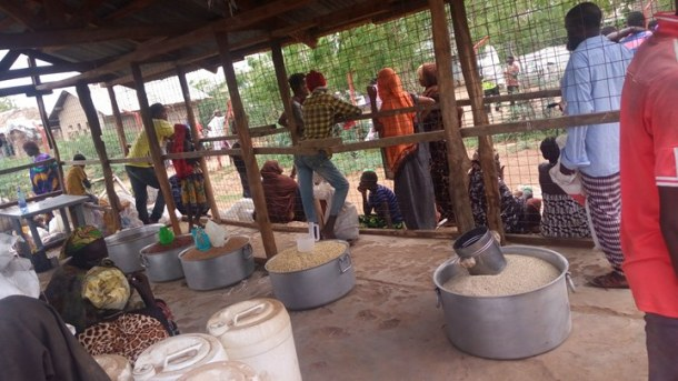 Kakuma Camp food distribution site