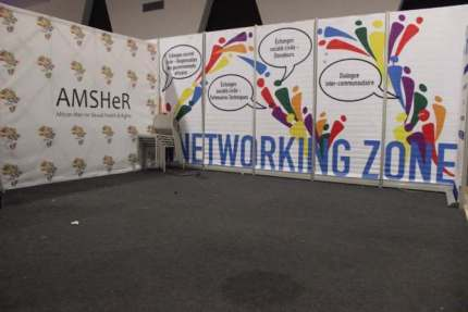 MSM networking zone at ICASA 2017 before the vandalism. (AMSHeR photo courtesy of Meg Davis)