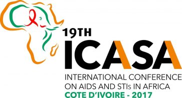 Logo of ICASA 2017, the International Conference on Aids and STIs in Africa.