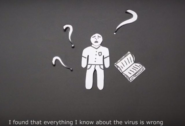 Scene from HIV informational video