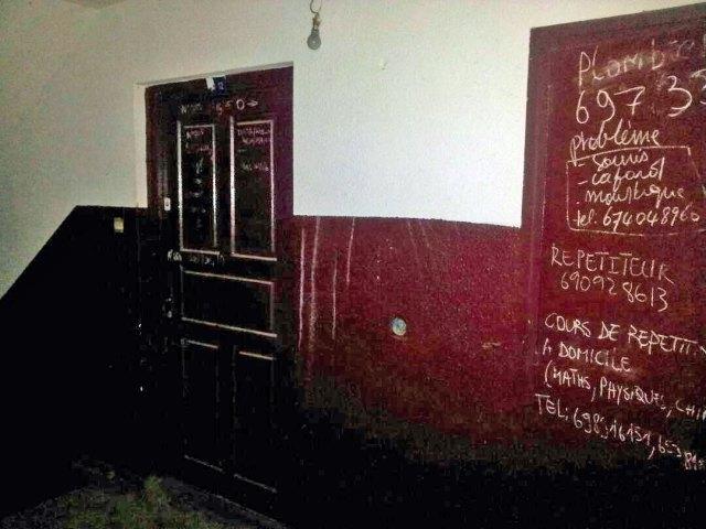 Nina's front door in Douala, Cameroon. (Photo courtesy of Jacks Oke)