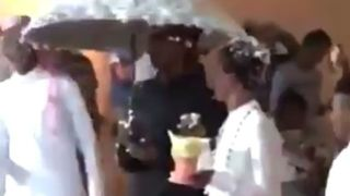 """Scene from alleged Saudi """"gay wedding"""" video (Photo courtesy of Twitter via the BBC)"""