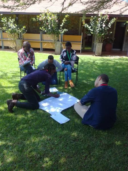 Making plans for the African Queer Youth Initiative. (Photo courtesy of AQYI)