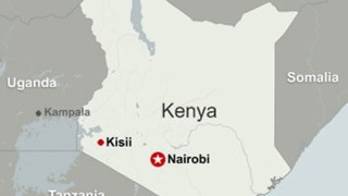 Location of Kisii in Kenya.