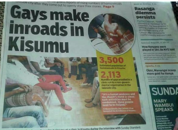 Front page of the Sunday Standard on April 15, 2018.