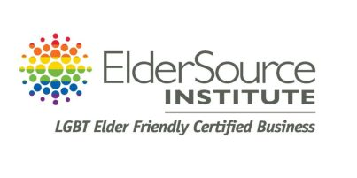 ElderSource Institute logo for Florida businesses that achieve the status of being officially declared LGBT elder friendly.