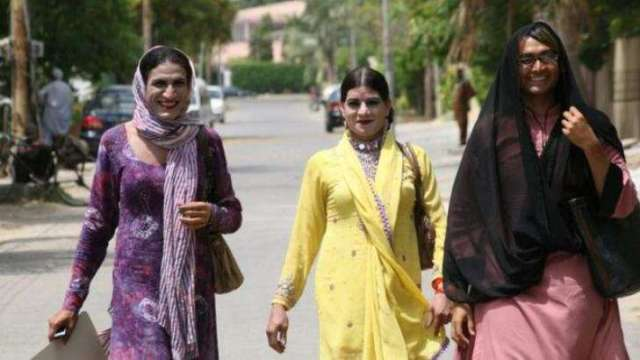 """Trans Pakistanis on the move (Photo illustrating UrduPoint's article """"All-Pakistan Transgender Election Network Launched"""")"""