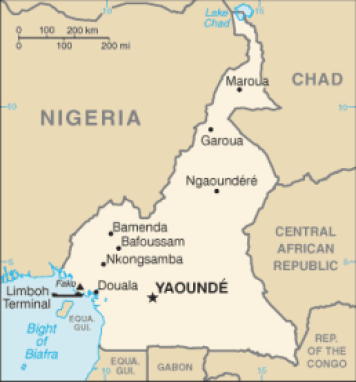 Maroua is in the far northern region of Cameroon.