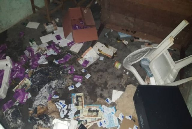 The office of the Ocodevo LGBTI rights group was ransacked and burned on Jan. 4. (Photo courtesy of Acodevo)