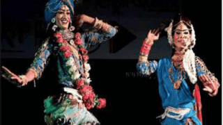 Artists perform during the Awadh Queer Lit Fest. (V. Sunil photo courtesy of The Times of India)
