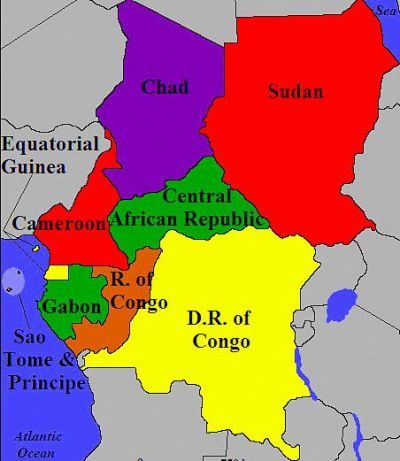 Map Of Central Africa Slow or no progress in Central Africa