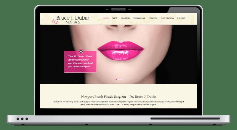 Dr Dubin - website design by 76 Solutions