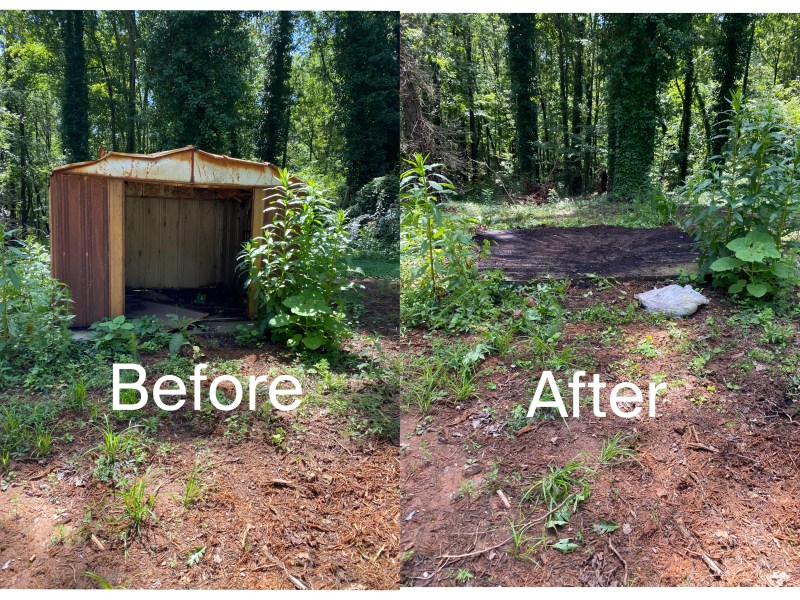 shed removal, junk removal