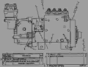 6N0287 GOVERNOR AND FUEL INJECTION PUMP GROUP  MOTOR