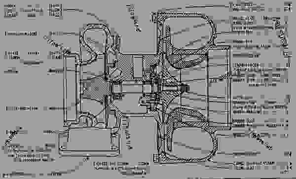 2s1885 Turbocharger Assembly Engine Truck Caterpillar