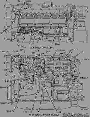 1318281 WIRING GROUPENGINE  ENGINE  MARINE Caterpillar 3406E  3406E Marine Engine 9WR00001