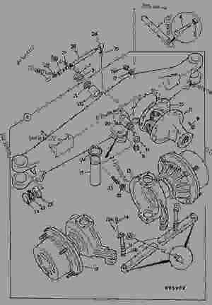 AXLE ASSEMBLY, 4WD, STEERING  CONSTRUCTION JCB 3CX4TT