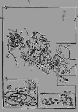 MOTOR, STARTER, M127 12VOLT  CONSTRUCTION JCB 506B  LOADALL 506B, 98027700, M570000