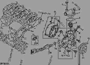 Water Pump And Thermostat (2030)  PROGATOR John Deere 2030  PROGATOR  2020 and 2030 ProGator