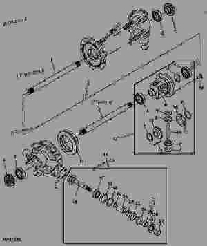 FRONT AXLE AND DIFFERENTIAL DRIVE (MFWD)  TRACTOR