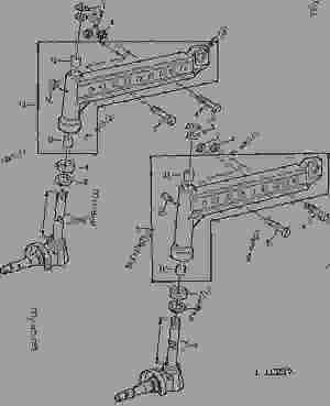 FRONT AXLE KNEESPINDLE KNUCKLE (WITH HYDROSTATIC STEERING