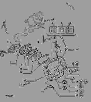 INSTRUMENT PANEL  TRACTOR John Deere 5300  TRACTOR