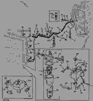FUEL LINES, FILTER, AND PUMP [01G06]  COMBINE John Deere