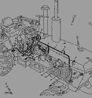 ENGINE WIRING [03C01]  TRACTOR John Deere 4240  TRACTOR