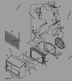Radiator (XXXXXX  )  PROGATOR John Deere GATOR