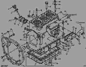 CYLINDER BLOCK PARTS [5]  TRACTOR, COMPACT UTILITY John